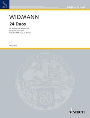 24 Duos Volume 1 Joerg Widmann Partition 0 - laflutedepan