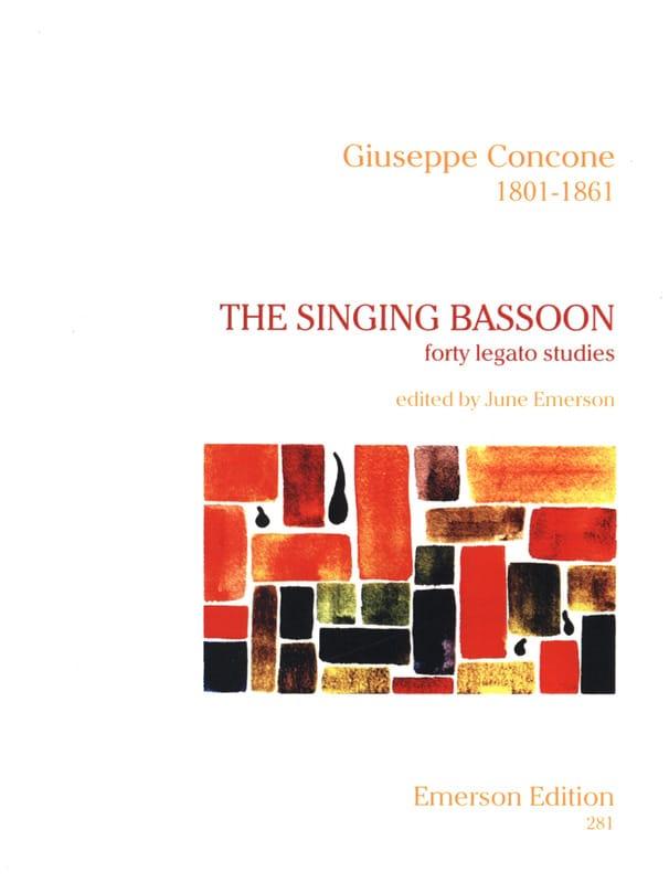The Singing Bassoon - Giuseppe Concone - Partition - laflutedepan.com