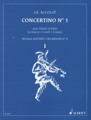 Concertino n°1 en la mineur Jean-Baptiste ACCOLAY laflutedepan