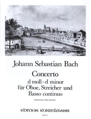 Konzert D-Moll, BWV 1059 - Oboe Klavier BACH Partition laflutedepan
