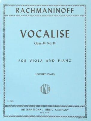 Vocalise op. 34 n° 14 - Viola - RACHMANINOV - laflutedepan.com