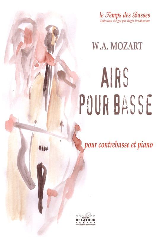 Airs pour Basse - MOZART - Partition - Contrebasse - laflutedepan.com
