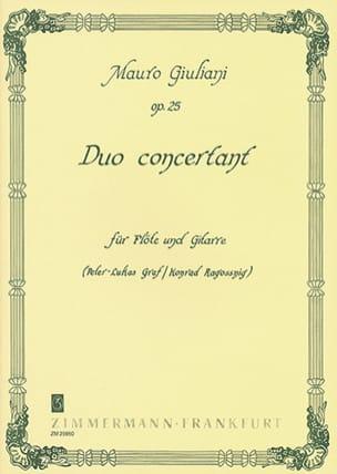 Duo Concertant, Op. 25 Mauro Giuliani Partition Duos - laflutedepan