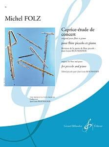 Caprice-Etude De Concert - Michel Folz - Partition - laflutedepan.com
