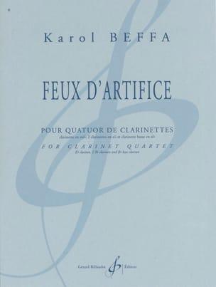 Feux d'artifice Karol Beffa Partition Clarinette - laflutedepan