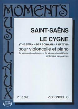 Le Cygne SAINT-SAËNS Partition Violoncelle - laflutedepan