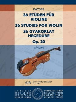 Heinrich Ernst Kayser - 36 estudios op. Sandor - Partition - di-arezzo.es