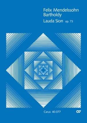 Lauda Sion MENDELSSOHN Partition Grand format - laflutedepan