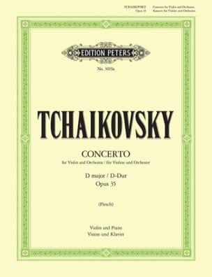 Concerto Violon ré majeur op. 35 Flesch TCHAIKOVSKY laflutedepan