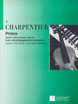 Prière - Arthur Charpentier - Partition - Violon - laflutedepan.com