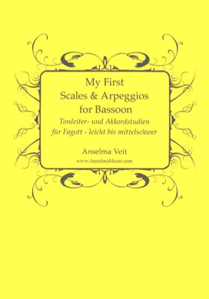 My First Scales and Arpeggios - Basson Anselma Veit laflutedepan