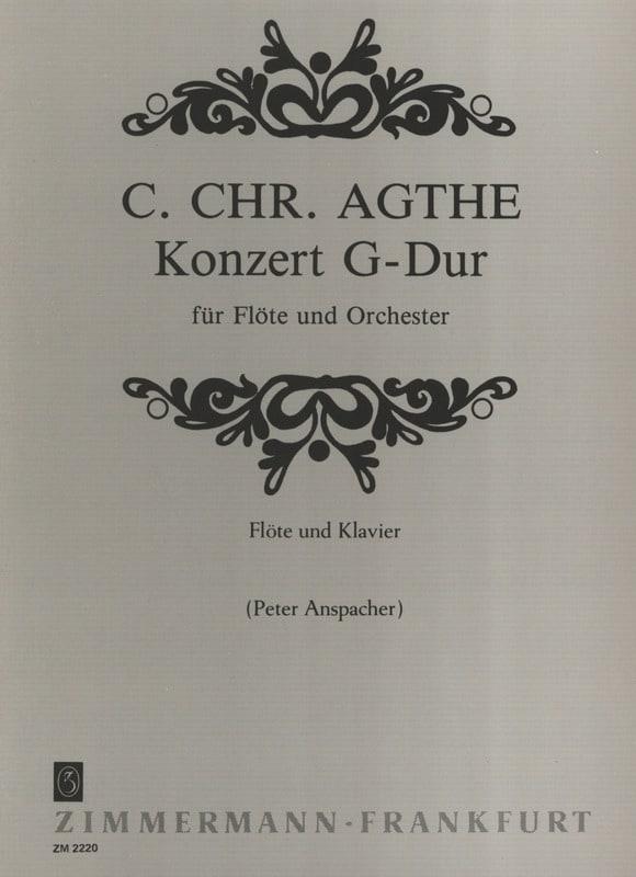 Concerto en Sol Majeur - Carl Christian Agthe - laflutedepan.com
