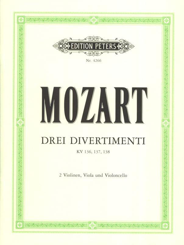3 Divertimenti KV 136, 137, 138 - Stimmen - MOZART - laflutedepan.com
