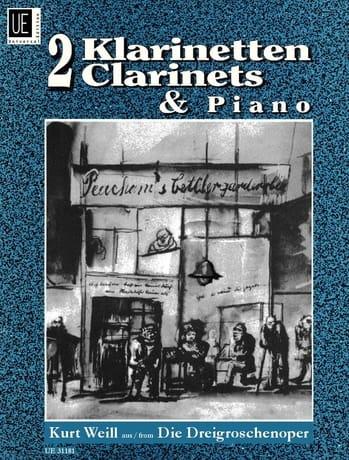 Die Dreigoschenoper -2 Klarinetten Klavier - WEILL - laflutedepan.com