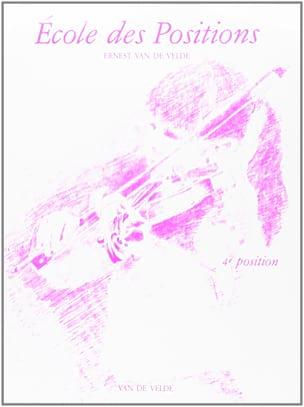 VAN DE VELDE - School of Positions - 4th position - Partition - di-arezzo.co.uk