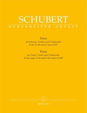 trios : piano, violon, violoncelle en Si Majeur D 28 et Mi Bémol Majeur D 897 laflutedepan