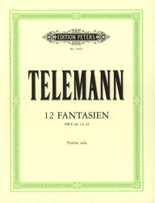 TELEMANN - 12 Fantasies - Partition - di-arezzo.co.uk