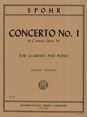 Concerto Clarinette n° 1 ut mineur op. 26 SPOHR Partition laflutedepan