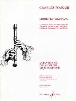 Modes et Travaux Charles Fouque Partition Flûte à bec - laflutedepan
