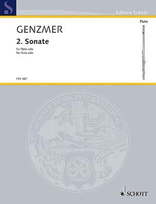 Sonate Nr. 2 - Flöte solo Harald Genzmer Partition laflutedepan