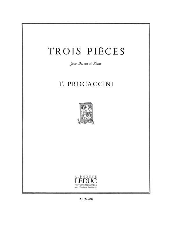 3 Pieces - Procaccini - Partition - Basson - laflutedepan.com