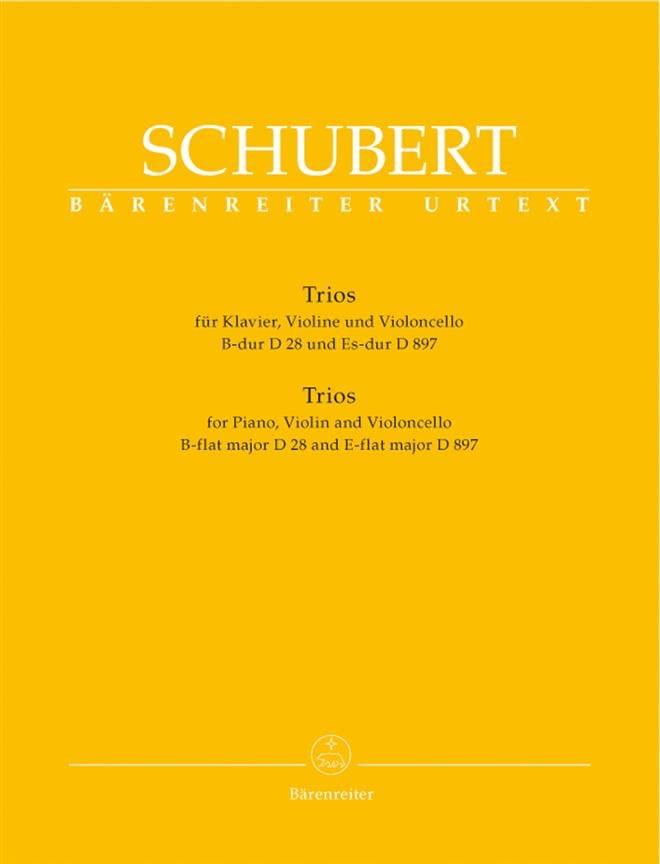 trios : piano, violon, violoncelle en Si Majeur D 28 et Mi Bémol Majeur D 897 - laflutedepan.com