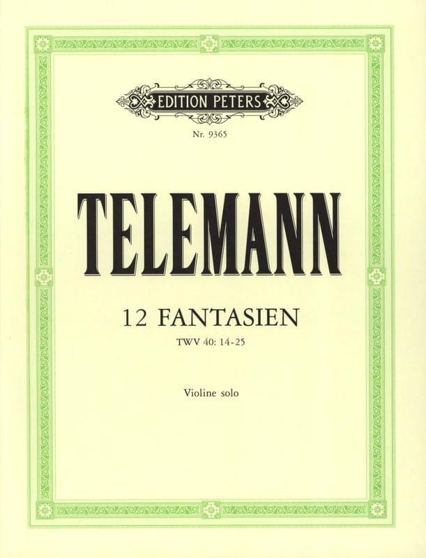 12 Fantasies - TELEMANN - Partition - Violon - laflutedepan.com