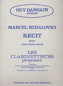 Récit - Marcel Mihalovici - Partition - Clarinette - laflutedepan.com
