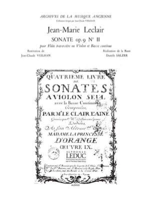 Sonate op. 9 n° 2 - Flûte ou violon et bc LECLAIR laflutedepan