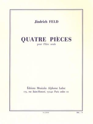 4 Pièces - Flûte solo Jindrich Feld Partition laflutedepan