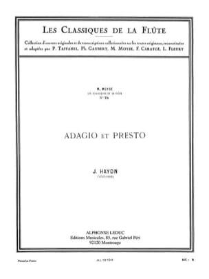 Adagio et Presto - Flûte HAYDN Partition laflutedepan