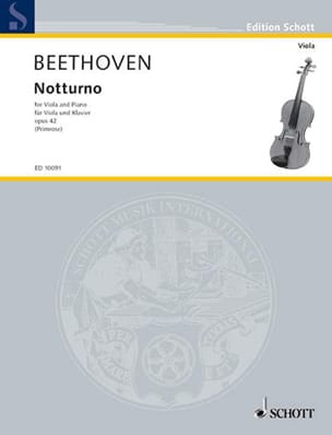 BEETHOVEN - Notturno Op. 42 - Partition - di-arezzo.fr