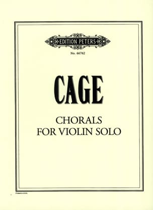 Chorals for violin solo CAGE Partition Violon - laflutedepan