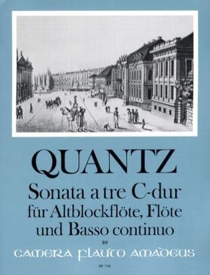 Sonata a tre C-Dur - Altblockflöte Flöte Bc QUANTZ laflutedepan