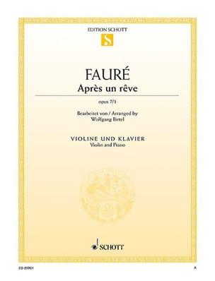Après un rêve, op. 7/1 FAURÉ Partition Violon - laflutedepan