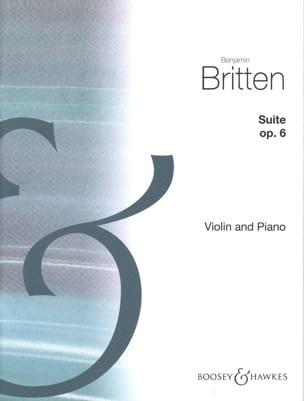 Suite opus 6 BRITTEN Partition Violon - laflutedepan
