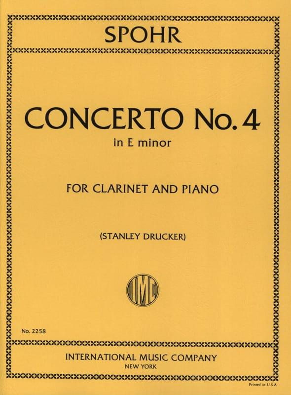 Concerto Clarinette n° 4 mi mineur - SPOHR - laflutedepan.com