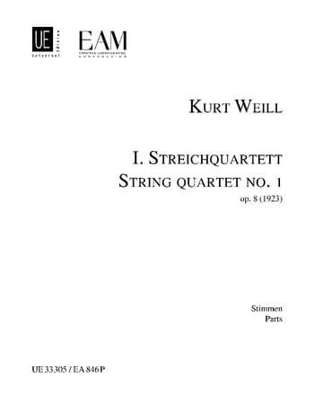 Streichquartett Nr. 1 op. 8 - Stimmen - WEILL - laflutedepan.com