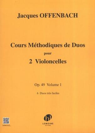 Cours Duos Vclles, Op. 49 Liv. 1 OFFENBACH Partition laflutedepan
