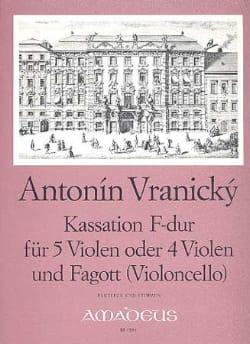 Kassation F-Dur Antonin Vranicky Partition Alto - laflutedepan