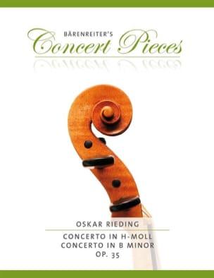 Concerto pour violon en si mineur Op. 35 Oskar Rieding laflutedepan
