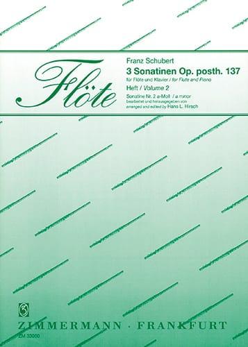 Sonatine op. posth. 137 Nr. 2 a-moll - Flöte Klavier - laflutedepan.com