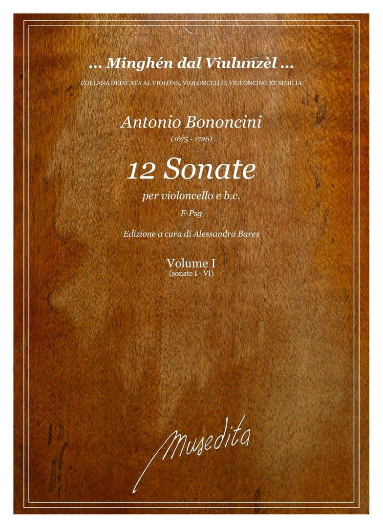12 Sonatas, Vol. 1 - Antonio Maria Bononcini - laflutedepan.com