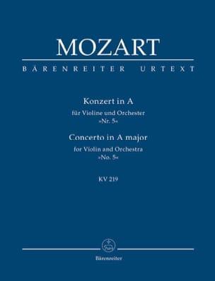 Konzert A-Dur für Violine und Orchester Kv 219 MOZART laflutedepan