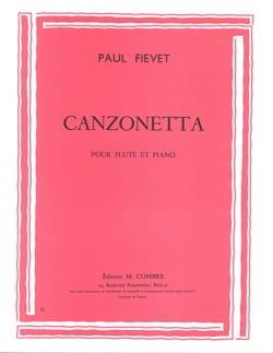 Canzonetta Paul Fiévet Partition Flûte traversière - laflutedepan