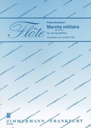 Marche militaire op. 51 N° 1 - 4 Flöten SCHUBERT laflutedepan