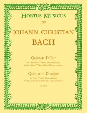 Johann Christian Bach - Quintett D-Dur op. 11 No. 6 - Flöte Oboe Violine Viola BC - Partition - di-arezzo.co.uk