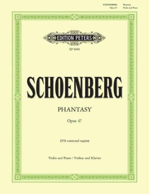 Phantasy op. 47 SCHOENBERG Partition Violon - laflutedepan