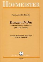 Konzert D-Dur - Kontrabass HOFFMEISTER Partition laflutedepan