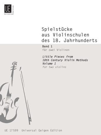 Spielstücke aus Violinschulen des 18. Jahrhunderts für 2 Violinen Bd. 1 - laflutedepan.com